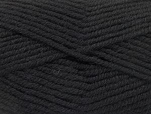Fiber Content 50% Acrylic, 25% Wool, 25% Alpaca, Brand ICE, Black, Yarn Thickness 5 Bulky  Chunky, Craft, Rug, fnt2-60855