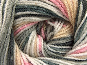 Fiber Content 100% Premium Acrylic, White, Pink, Brand ICE, Grey Shades, Cream, Yarn Thickness 3 Light  DK, Light, Worsted, fnt2-60885
