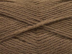 Fiber Content 50% Acrylic, 25% Wool, 25% Alpaca, Brand ICE, Dark Camel, Yarn Thickness 3 Light  DK, Light, Worsted, fnt2-60892