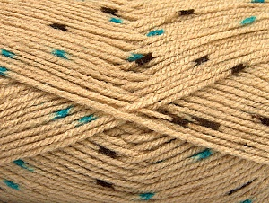 Fiber Content 100% Acrylic, Turquoise, Brand ICE, Camel, Brown, fnt2-60914