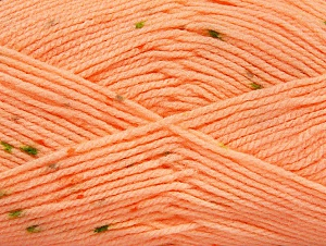 Fiber Content 100% Acrylic, Light Salmon, Brand ICE, Green Shades, Yarn Thickness 2 Fine  Sport, Baby, fnt2-60916