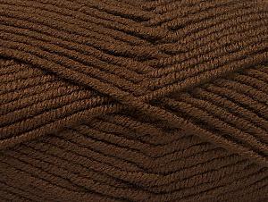 Fiber Content 100% Acrylic, Brand ICE, Dark Brown, Yarn Thickness 5 Bulky  Chunky, Craft, Rug, fnt2-60929