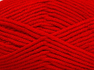 Fiber Content 100% Acrylic, Red, Brand ICE, Yarn Thickness 5 Bulky  Chunky, Craft, Rug, fnt2-60938