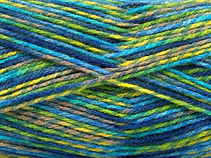 Fiber Content 100% Premium Acrylic, Turquoise, Brand ICE, Green Shades, Camel, Blue, Yarn Thickness 2 Fine  Sport, Baby, fnt2-60949