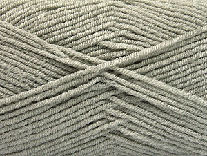 Fiber Content 100% Acrylic, Light Grey, Brand ICE, Yarn Thickness 4 Medium  Worsted, Afghan, Aran, fnt2-60956