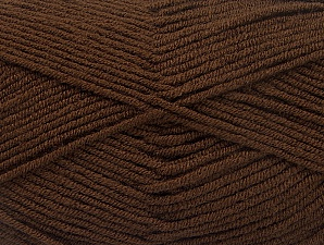 Fiber Content 100% Acrylic, Brand ICE, Coffee Brown, Yarn Thickness 4 Medium  Worsted, Afghan, Aran, fnt2-60970