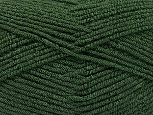 Fiber Content 100% Acrylic, Brand ICE, Dark Green, Yarn Thickness 4 Medium  Worsted, Afghan, Aran, fnt2-60983