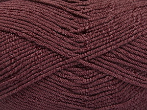 Fiber Content 100% Acrylic, Light Maroon, Brand ICE, Yarn Thickness 4 Medium  Worsted, Afghan, Aran, fnt2-60991