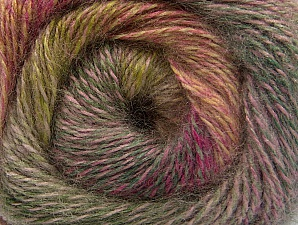 Fiber Content 75% Premium Acrylic, 15% Wool, 10% Mohair, Pink, Brand ICE, Green Shades, Fuchsia, Camel, Yarn Thickness 2 Fine  Sport, Baby, fnt2-61009