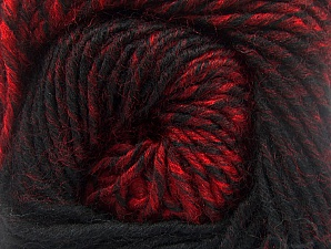 Fiber Content 75% Premium Acrylic, 25% Wool, Red, Brand ICE, Black, Yarn Thickness 4 Medium  Worsted, Afghan, Aran, fnt2-61023
