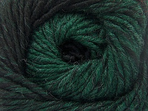 Fiber Content 75% Premium Acrylic, 25% Wool, Brand ICE, Dark Green, Black, Yarn Thickness 4 Medium  Worsted, Afghan, Aran, fnt2-61025