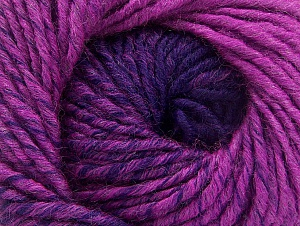 Fiber Content 75% Premium Acrylic, 25% Wool, Purple, Brand ICE, Fuchsia, Yarn Thickness 4 Medium  Worsted, Afghan, Aran, fnt2-61030