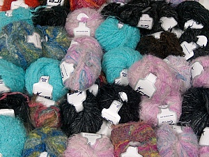 Fancy Yarns This mixed lot includes a total of 2000 gr (70.5 oz.) yarn. There is no standard for ball weight. Also disregard any information on the labels. You will get what you see in the photo. Brand ICE, fnt2-61054