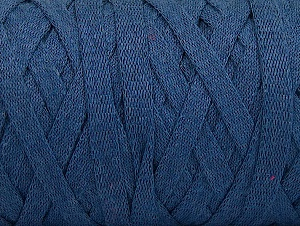 Fiber Content 100% Recycled Cotton, Jeans Blue, Brand ICE, Yarn Thickness 6 SuperBulky  Bulky, Roving, fnt2-61088