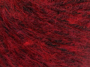 Fiber Content 85% Acrylic, 15% Bamboo, Red, Brand ICE, Burgundy, Black, Yarn Thickness 4 Medium  Worsted, Afghan, Aran, fnt2-61098