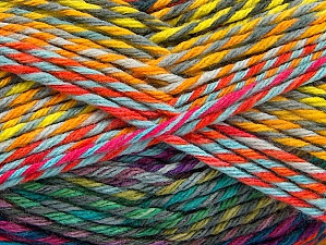 Fiber Content 100% Premium Acrylic, Rainbow, Brand ICE, Yarn Thickness 4 Medium  Worsted, Afghan, Aran, fnt2-61117