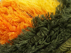 Fiber Content 95% Acrylic, 5% Polyester, Yellow, Orange, Brand ICE, Green Shades, Gold, Yarn Thickness 6 SuperBulky  Bulky, Roving, fnt2-61125