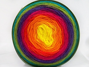 Fiber Content 100% Premium Acrylic, Yellow, Turquoise, Purple, Pink, Orange, Brand ICE, Green, Yarn Thickness 3 Light  DK, Light, Worsted, fnt2-61189