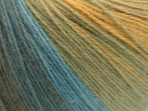 Fiber Content 60% Acrylic, 20% Wool, 20% Angora, White, Light Grey, Brand ICE, Green Shades, Blue Shades, Yarn Thickness 2 Fine  Sport, Baby, fnt2-61194