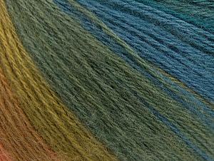 Fiber Content 60% Acrylic, 20% Wool, 20% Angora, Turquoise, Salmon, Brand ICE, Green Shades, Blue, Yarn Thickness 2 Fine  Sport, Baby, fnt2-61204