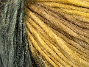 Fiber Content 60% Wool, 40% Acrylic, Olive Green, Brand ICE, Grey, Camel, Black, Yarn Thickness 4 Medium  Worsted, Afghan, Aran, fnt2-61214