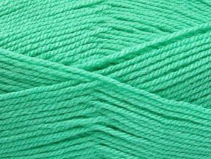 Fiber Content 100% Acrylic, Mint Green, Brand ICE, Yarn Thickness 3 Light  DK, Light, Worsted, fnt2-61217