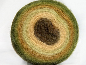 Fiber Content 60% Acrylic, 20% Wool, 20% Angora, Brand ICE, Green Shades, Cream, Brown, Yarn Thickness 2 Fine  Sport, Baby, fnt2-61239