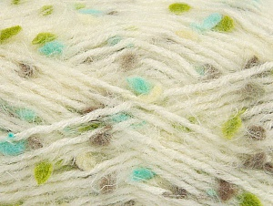 Fiber Content 50% Polyamide, 40% Premium Acrylic, 10% Polyester, Turquoise, Brand ICE, Green, Cream, Camel, Yarn Thickness 4 Medium  Worsted, Afghan, Aran, fnt2-61304