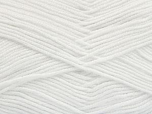 Fiber Content 60% Bamboo, 40% Polyamide, White, Brand ICE, Yarn Thickness 2 Fine  Sport, Baby, fnt2-61308