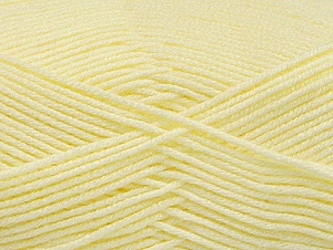 Fiber Content 60% Bamboo, 40% Polyamide, Light Yellow, Brand ICE, Yarn Thickness 2 Fine  Sport, Baby, fnt2-61320