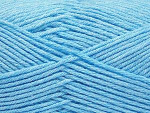 Fiber Content 60% Bamboo, 40% Polyamide, Light Blue, Brand ICE, Yarn Thickness 2 Fine  Sport, Baby, fnt2-61337