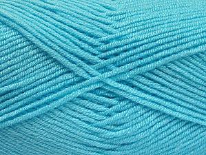 Fiber Content 100% Acrylic, Light Turquoise, Brand ICE, Yarn Thickness 4 Medium  Worsted, Afghan, Aran, fnt2-61369