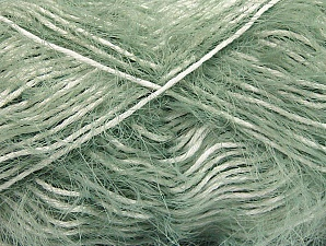 Fiber Content 50% Polyamide, 50% Cotton, White, Mint Green, Brand ICE, fnt2-61787
