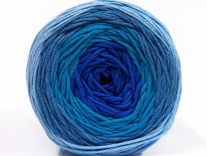 Fiber Content 50% Cotton, 50% Acrylic, Turquoise, Light Blue, Brand ICE, Blue, Yarn Thickness 3 Light  DK, Light, Worsted, fnt2-61792