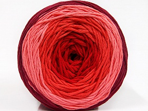 Fiber Content 50% Cotton, 50% Acrylic, Salmon, Red, Pink, Brand ICE, Burgundy, Yarn Thickness 3 Light  DK, Light, Worsted, fnt2-61794