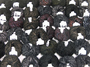 Eyelash Blends This mixed lot includes a total of 2000 gr (70.5 oz.) yarn. There is no standard for ball weight. Also disregard any information on the labels. You will get what you see in the photo. Brand ICE, fnt2-62015