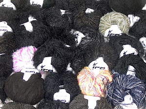 Eyelash Blends This mixed lot includes a total of 2000 gr (70.5 oz.) yarn. There is no standard for ball weight. Also disregard any information on the labels. You will get what you see in the photo. Brand ICE, fnt2-62025