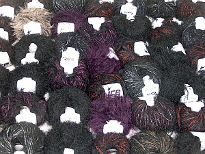 Eyelash Blends This mixed lot includes a total of 2000 gr (70.5 oz.) yarn. There is no standard for ball weight. Also disregard any information on the labels. You will get what you see in the photo. Brand ICE, fnt2-62026