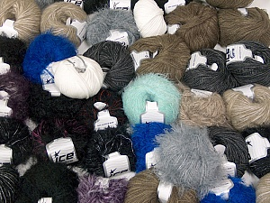 Custom Blends This mixed lot includes a total of 2000 gr (70.5 oz.) yarn. There is no standard for ball weight. Also disregard any information on the labels. You will get what you see in the photo. Brand ICE, fnt2-62028