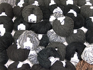 Custom Blends This mixed lot includes a total of 2000 gr (70.5 oz.) yarn. There is no standard for ball weight. Also disregard any information on the labels. You will get what you see in the photo. Brand ICE, fnt2-62029