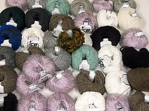 Custom Blends This mixed lot includes a total of 2000 gr (70.5 oz.) yarn. There is no standard for ball weight. Also disregard any information on the labels. You will get what you see in the photo. Brand ICE, fnt2-62031