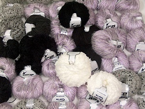 Custom Blends This mixed lot includes a total of 2000 gr (70.5 oz.) yarn. There is no standard for ball weight. Also disregard any information on the labels. You will get what you see in the photo. Brand ICE, fnt2-62032