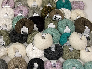 Winter Yarns This mixed lot includes a total of 2000 gr (70.5 oz.) yarn. There is no standard for ball weight. Also disregard any information on the labels. You will get what you see in the photo. Brand ICE, fnt2-62036