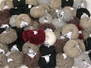 Custom Blends This mixed lot includes a total of 2000 gr (70.5 oz.) yarn. There is no standard for ball weight. Also disregard any information on the labels. You will get what you see in the photo. Brand ICE, fnt2-62037