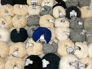Custom Blends This mixed lot includes a total of 2000 gr (70.5 oz.) yarn. There is no standard for ball weight. Also disregard any information on the labels. You will get what you see in the photo. Brand ICE, fnt2-62038