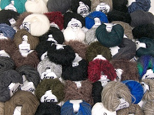 Custom Blends This mixed lot includes a total of 2000 gr (70.5 oz.) yarn. There is no standard for ball weight. Also disregard any information on the labels. You will get what you see in the photo. Brand ICE, fnt2-62042