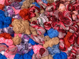 Angora - Mohair Leftover This lot consists of more than 100 hanks of yarn. The total weight is 2000 gr (70.5 oz.). Brand ICE, fnt2-62052