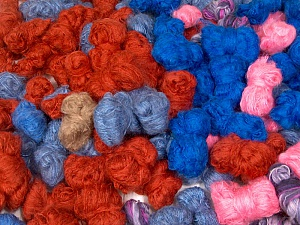 Angora - Mohair Leftover This lot consists of more than 100 hanks of yarn. The total weight is 2000 gr (70.5 oz.). Brand ICE, fnt2-62053