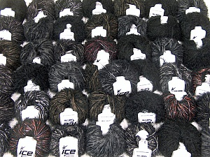 Eyelash Blends This mixed lot includes a total of 2000 gr (70.5 oz.) yarn. There is no standard for ball weight. Also disregard any information on the labels. You will get what you see in the photo. Brand ICE, fnt2-62058