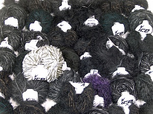 Eyelash Blends This mixed lot includes a total of 2000 gr (70.5 oz.) yarn. There is no standard for ball weight. Also disregard any information on the labels. You will get what you see in the photo. Brand ICE, fnt2-62059